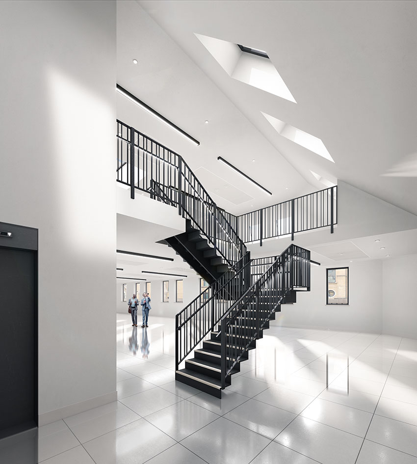 CGI of duplex floors